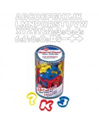 image: Alphabet & Numbers cookie cutter set with symbols 50 piece
