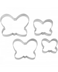 image: Nesting set 4 Butterfly Butterflies cookie cutters