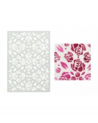 image: Rose Buds Rosebuds Stencil a6 size by Doric