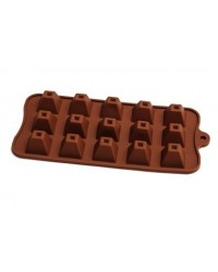 image: Pyramid silicone chocolate mould