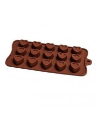 image: Embossed Heart Silicone Chocolate Mould