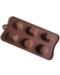 image: 3d Large Gems silicone chocolate mould use for Isomalt too