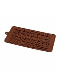 image: Alphabet letters silicone chocolate mould