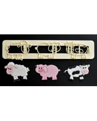 image: FMM Cute farm animal cutter set (pig cow sheep)