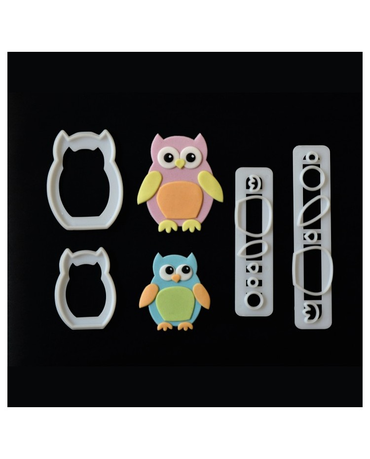 how to icing a wedding cake with fondant fmm mummy amp baby owl owls cutter set 15760