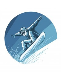 image: Edible Image Snowboarder Snowboarding