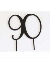 image: Acrylic Black cake topper numeral 90