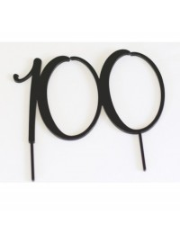 image: Acrylic Black cake topper numeral 100