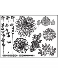 image: Hand Drawn Florals SILHO Silhouette mat mould