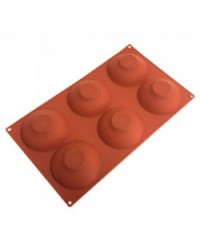image: Half shallow sphere hemisphere 80mm silicone mould chocolate