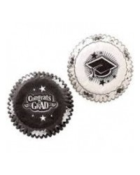 image: Graduation mini cupcake papers Black & White