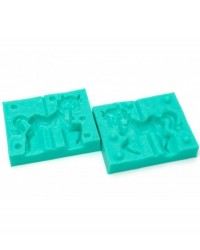 image: 3d Carousel Horse or Pony silicone mould