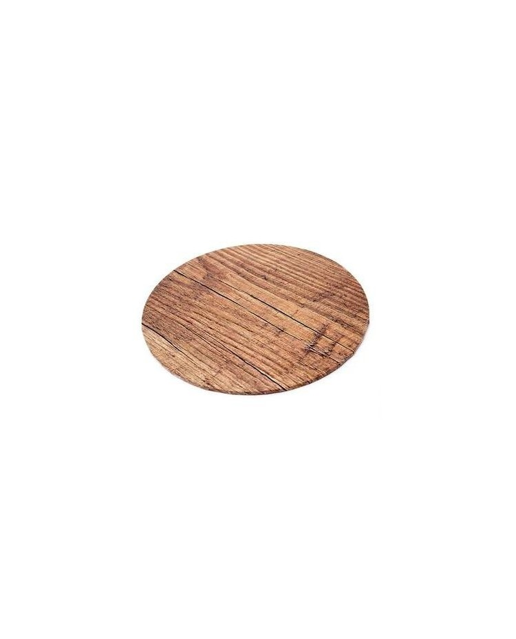 "image: Woodgrain Finish Masonite Cake board 10"" round"