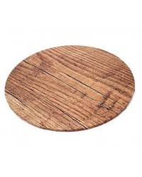 "image: Woodgrain Finish Masonite Cake board 14"" round"
