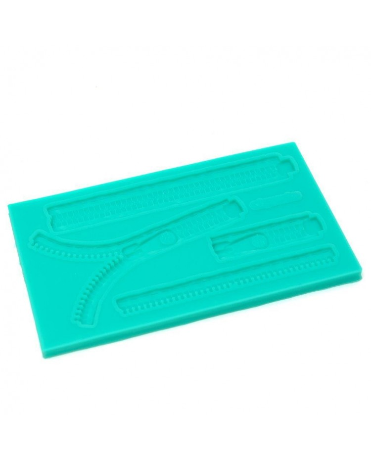 image: Zip or Zippers silicone mould
