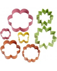 image: Flower Blossom Daisy & Butterfly garden cookie cutter set
