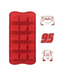 image: Silicone Chocolate mould Cars lightning McQueen (for icing too)