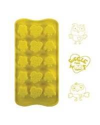 image: Silicone Chocolate mould Giggle & Hoot Owls (for icing too)