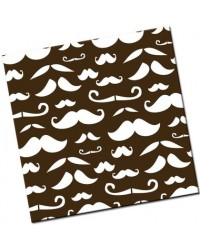 image: Chocolate transfer sheet Moustache or Mustache