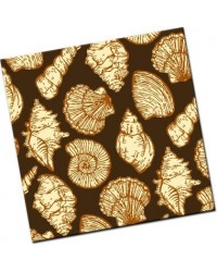 image: Chocolate transfer sheet Seashells