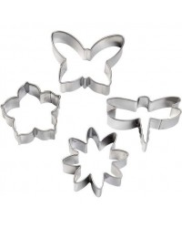 image: Mini cutter set & impression mats dragonfly butterfly petunia +