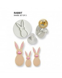 image: Set 3 Rabbit or Bunny PME plunger ejector cutters