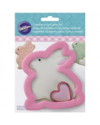 image: Comfort Grip sitting Easter bunny with mini heart cutter set 2