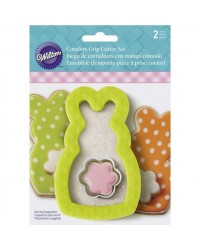 image: Comfort Grip Easter bunny with mini flower cutter set 2