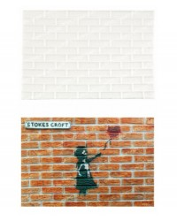 image: Brick Wall impression mat silicone mould