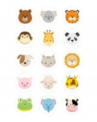 image: Cupcake edible images (15) Baby Animals animal faces