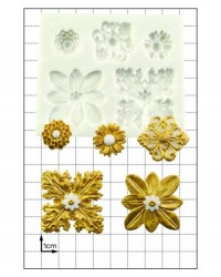 image: Decorative ornate gilded accents silicone mould