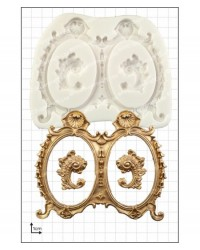 image: Large decorative double frames silicone mould