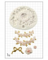 image: Rose Swags & bow decorative silicone mould