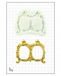 image: Small double frames decorative silicone mould