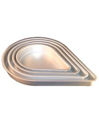 "image: Fat daddios 12"" Teardrop cake pan"