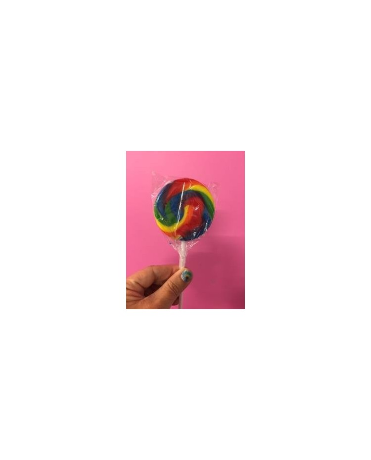 image: Rainbow Swirly lollipop LARGE (great for drip cakes)