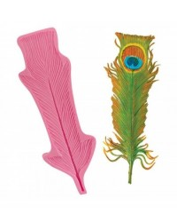 image: Large Ostrich or Peacock feather silicone mould 27x9cm