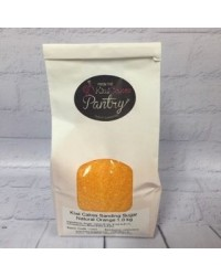 image: Sparkling jewel sanding sugar Orange Natural (egg yellow) 1kg