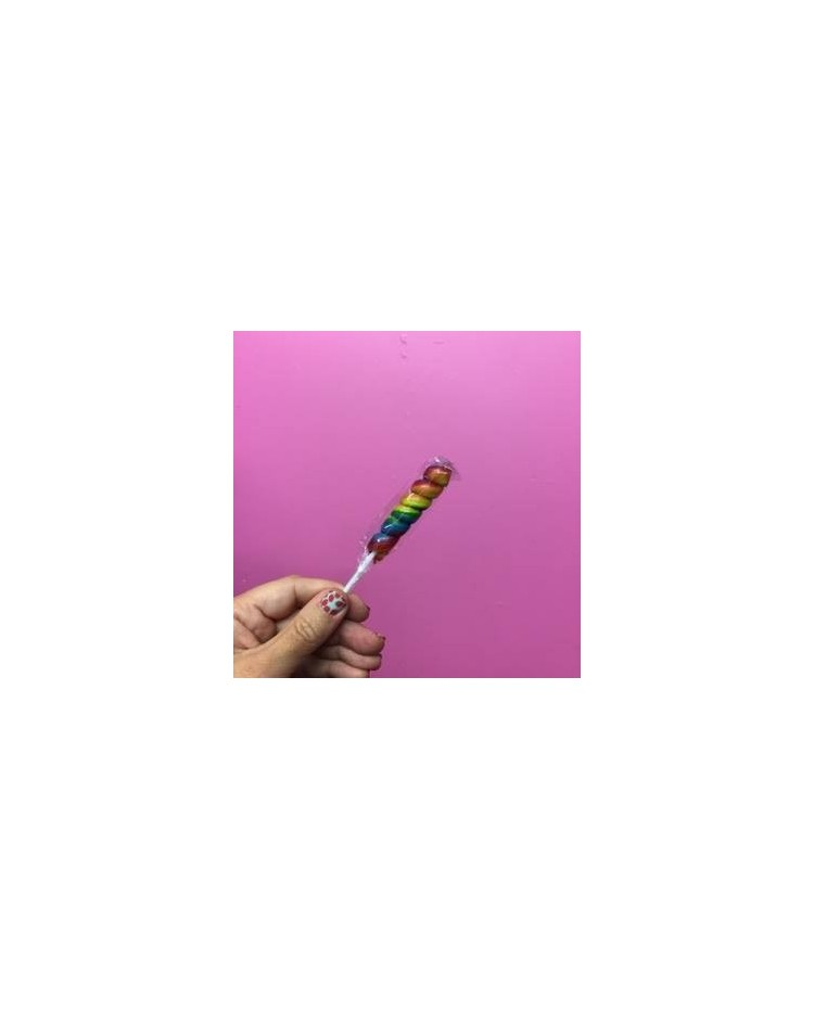 image: Rainbow Spiral twist lollipop (great for drip cakes)