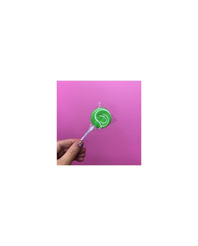 image: Green & White Swirly lollipop Small (great for drip cakes)
