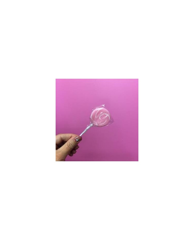 image: Pink & White Swirly lollipop Small (great for drip cakes)
