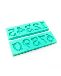 image: Ornate Numbers silicone mould (groove for pick during moulding)