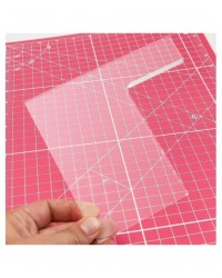 image: Cake & Scrape Acrylic Scraper Small Straight Edge (sharp edge)