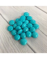 image: Chocolate drop gems buttons BLUE 100g