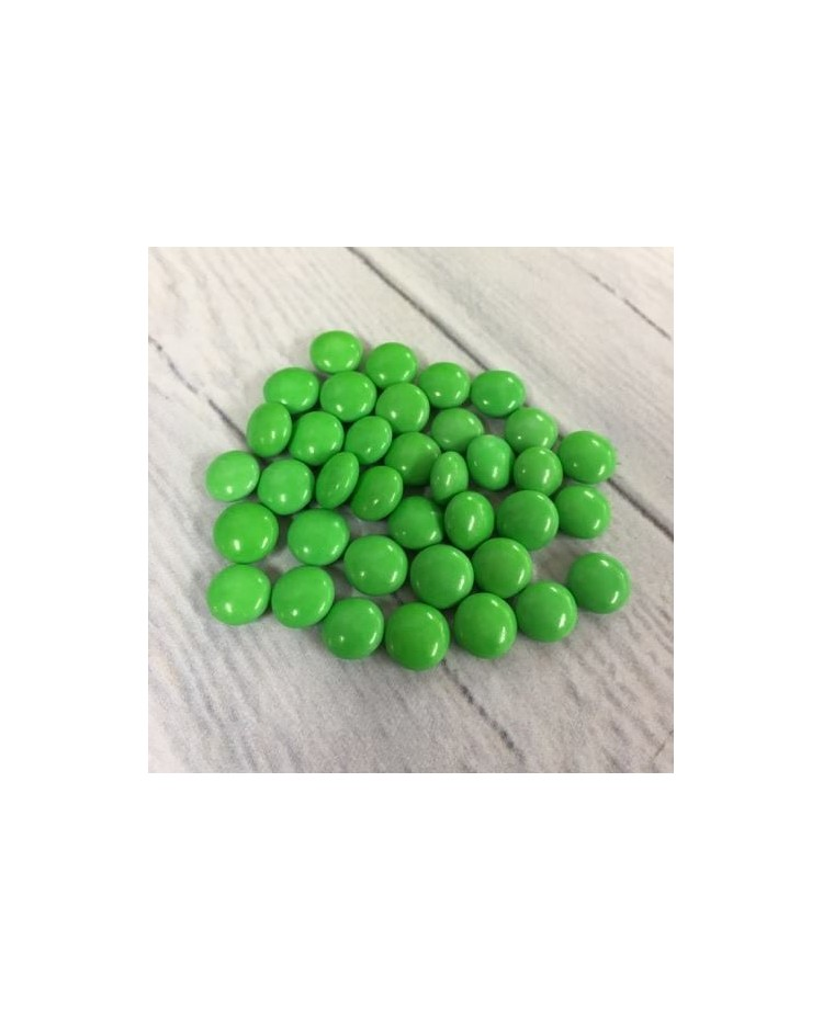 image: Chocolate drop gems buttons GREEN 100g