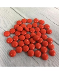 image: Chocolate drop gems buttons RED 100g