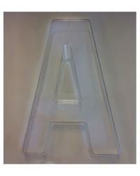 image: Jumbo Letter alphabet Chocolate Mould A