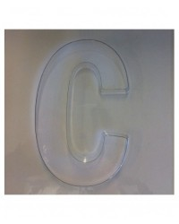 image: Jumbo Letter alphabet Chocolate Mould C
