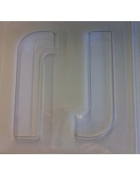 image: Jumbo Letter alphabet Chocolate Mould J
