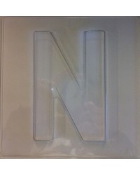 image: Jumbo Letter alphabet Chocolate Mould N